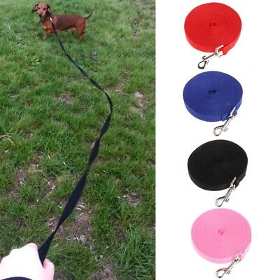 Pet Dog Lead Leash Long Strap Nylon Rope Obedience Training Walking 1.5/6/10/15M