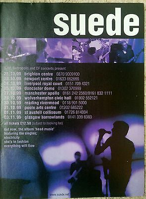 SUEDE - 1999 UK Tour Dates - RARE Full Page Magazine Press Advert