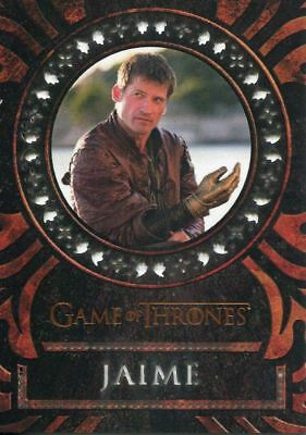 Game Of Thrones Valyrian Steel Laser Cut Chase Card LC03 Ser Jaime Lannister