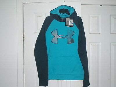 NEW Boy's Under Armour Storm Armour Fleece Big Logo Hoodie YXL Youth Extra Large