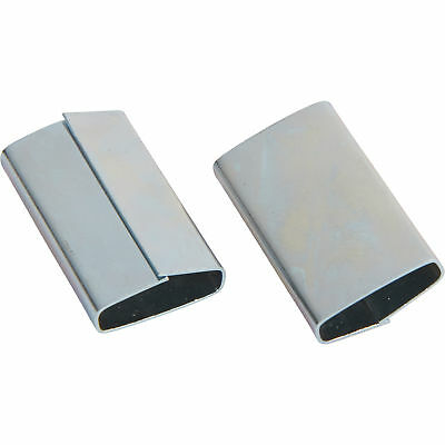 Strongway Seals for 1/2in. Plastic Poly Strapping-500-Pk.
