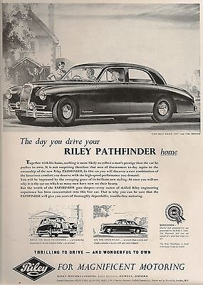 Riley Cowley Oxford Pathfinder Saloon Magnificent Motoring 1955 Vintage Advert