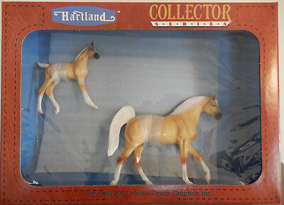 "1994 Hartland Collectibles 7"" Tennessee Walking horse mare & foal set Orig. Box"