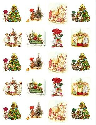 """20  2""""x2""""Glossy Square Stickers/Seals Children christmas Buy 3 get 1 free(s24)"""