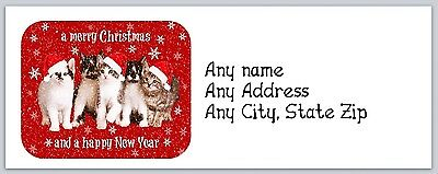Personalized Address Labels Christmas Buy 3 get 1 free (ac 249)
