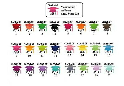 Personalizeded Address labels Graduation Caps 2017 Buy 3 get 1 free {gc1}