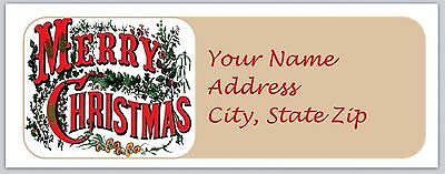 30 Personalized Christmas Return Address Labels Buy 3 get 1 free (bo 674)