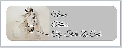 30 Personalized Return Address Labels Horse  Buy 3 get 1 free (hc1)