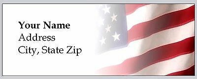 30 Personalized Return Address Labels Us flag Buy 3 get 1 free (c 926)