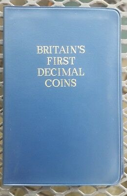 Britain's First Decimal Coins Set Presentation Collection Uncirculated Pack 1971