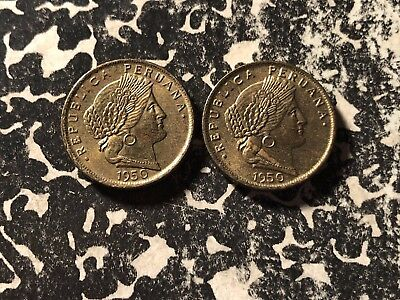 1950 Peru 5 Centavos (2 Available) Nice! (1 Coin Only)