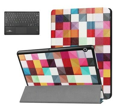 For Huawei Mediapad T3 10 Leather Tablet Flip Cover Case Bluetooth