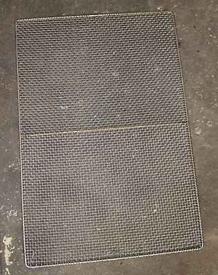 "Lot of 10 used 17"" x 25"" commercial donut frying screens"