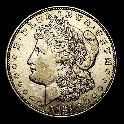 1921 D ~**ABOUT UNCIRCULATED AU**~ Silver Morgan Dollar Rare US Old Coin! #L94