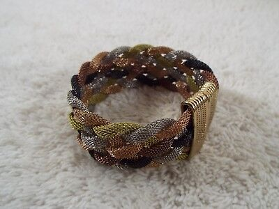 Mixed Metal-tone Mesh Chain Braided Bracelet (A7)