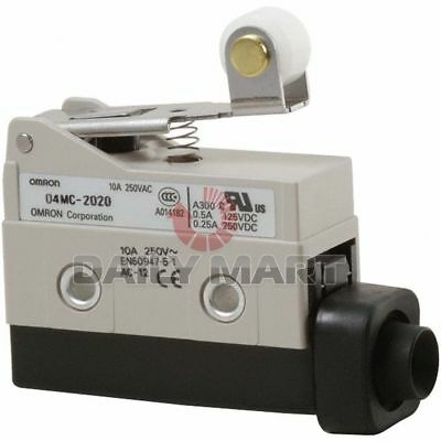 New Omron D4MC-2020 Limit Switch Short Hinge 10A Roller