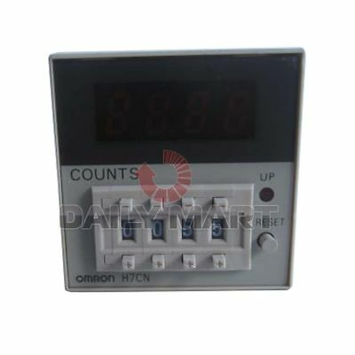 Omron H7Cn-Xlnm Time Relay Digital Counter 4 Digits Display Led Ac100-240 New