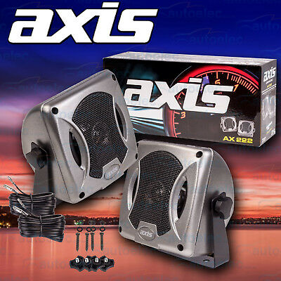 Axis Ax222 Compact Box Speakers 80W Watt 2 Way Roof Surface Mount External New