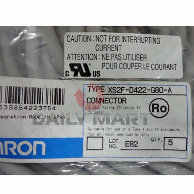 Omron Xs2F-D422-G80-A Connecting Line Connector Cable Plc Module New