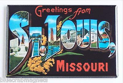 Greetings from St. Louis FRIDGE MAGNET (2.5 x 3.5 inches) missouri state travel