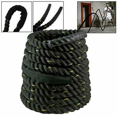 "30Ft Battle 1.5"" Undulation rope Strength Training Gym Climbing Fitness Exercise"