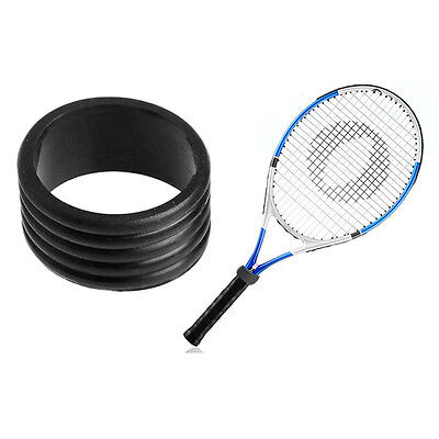 2x Stretchy Tennis Racket Handle's Rubber Ring Tennis Racquet Band Grips Sport#