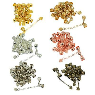 10pcs Cord End Caps Bail Tips With Lobster Clasp And Extender Chain Findings