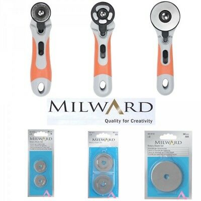 Milward Rotary Cutter 28mm, 45mm & 60mm Also Replacement Blades