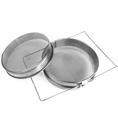 Stainless Beekeeping Double Honey Strainer Filter Apiary Equipment Tool