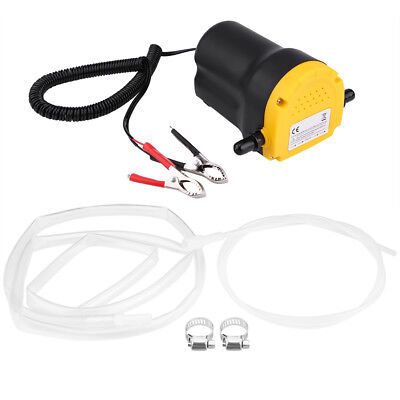 12V 60W Oil Diesel Fluid Sump Extractor Exchange Transfer Pump Suction Pump Tube