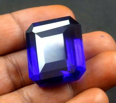 GGL Certified 60.05 Ct  Natural Superb Emerald Cut purple Amethyst  For Jewelry