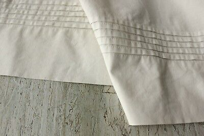 Vintage French Country  cotton ~ metis white APRON textile ~ lovely