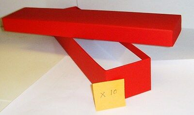 Loco/Locomotive Storage Boxes, Large (Red) with Lids x 10 - New.