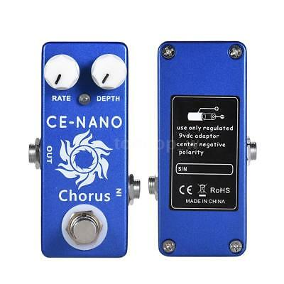 MOSKY CE-NANO Chorus Effect Pedal True Bypass for Electric Guitar Durable O0X8