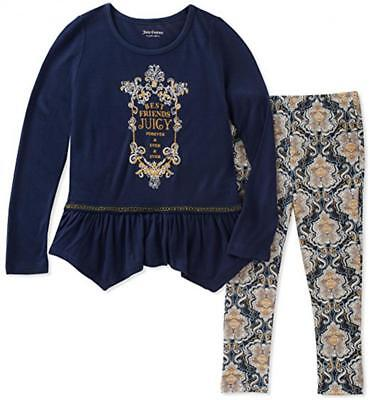 Juicy Couture Girls Navy Tunic 2pc Legging Set Size 2T 3T 4T 4 5 6 6X