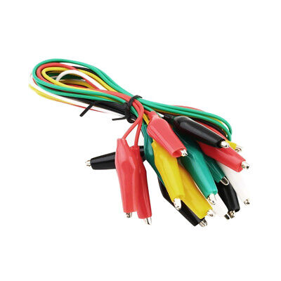 Pack of 10 Test Leads Set with Alligator Clips Double-end 40cm Jumper Wire
