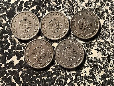 1956 Angola 2 1/2 Escudos (5 Available) Circulated (1 Coin Only)