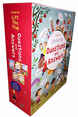 Usborne Lift-the-flap Questions and Answers 5 Books Collection Set-Animals, Body
