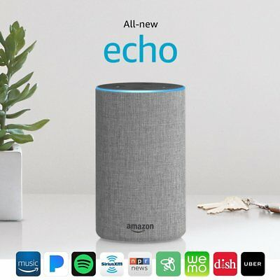 All New Amazon Echo 2nd Generation 2017 w/ improved sound by Dolby - Gray