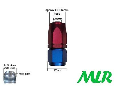 Mlr An -6 Jic Straight Red Blue Female Fuel Hose Pipe Fitting Union