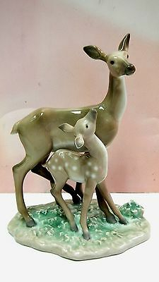 Fawn In The Forest -  Deer Animal Figurine By Lladro #8600