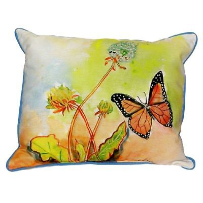 Pair of Betsy Drake Betsy's Butterfly Large Indoor/Outdoor Pillows