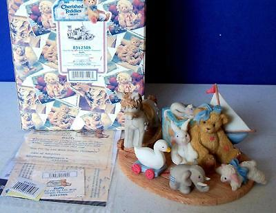 Cherished Teddies Figurine BUFFY 2000 #834238S NIB Boy with Toy Figurine