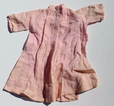Vtg 1950's Pink Linen Dress Up Doll Play Clothes / Clothing Ruffle Dress