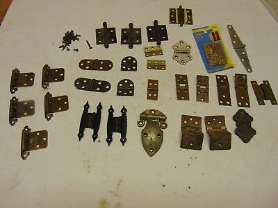 Lot of 30 misc Vintage salvaged small Hinges 2-3 inch