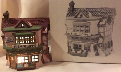Dept 56 Dickens Village *mermaid Fish Shoppe* 59269 Retired Shop 1988-1993