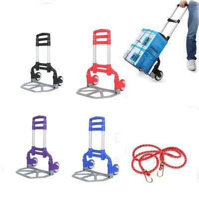 Portable Luggage Cart Heavy Duty Folding Roller Carts Carrier Foldable Platform