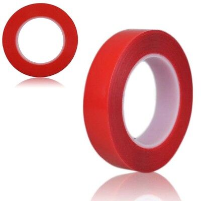 25MM Length RED Film Car Automobile Phone Home Double Side Adhesive Tape Rolls