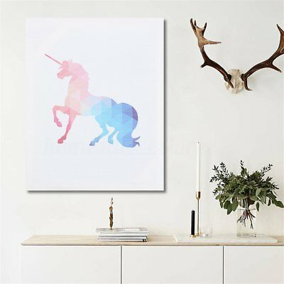 Unicorn Canvas Print Art Painting Picture Home Kids Bedroom Wall Decor Framed