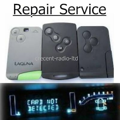 Renault Megane Scenic Key Repair Fix Fob Remote Card Not Detected Service